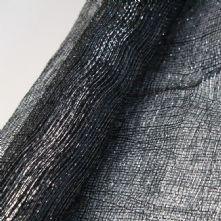 Black with Silver Thread Sinamay
